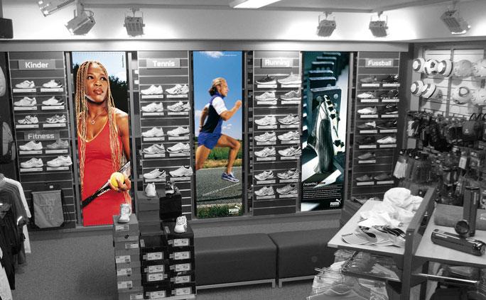 Dekofahnen für Ihr Geschäftslokal bedrucken lassen - Inter Fahnen