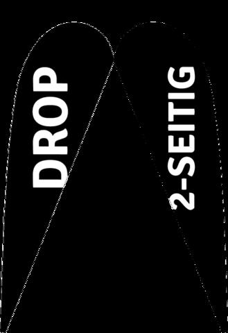 """Drop """"Premium"""" 2-seitig nur Druck"""