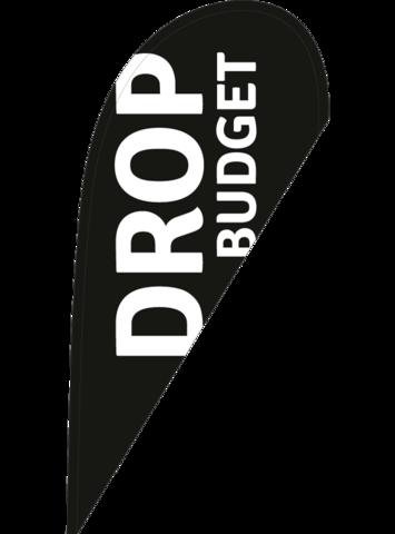 """Drop """"Budget"""" nur Druck"""